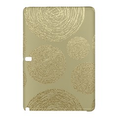 Modern, Gold,polka Dots, Metallic,elegant,chic,hand Painted, Beautiful,contemporary,deocrative,decor Samsung Galaxy Tab Pro 12 2 Hardshell Case