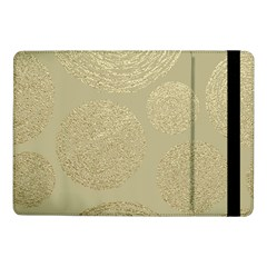Modern, Gold,polka Dots, Metallic,elegant,chic,hand Painted, Beautiful,contemporary,deocrative,decor Samsung Galaxy Tab Pro 10 1  Flip Case