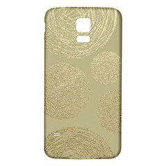 Modern, Gold,polka Dots, Metallic,elegant,chic,hand Painted, Beautiful,contemporary,deocrative,decor Samsung Galaxy S5 Back Case (white)