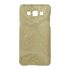Modern, Gold,polka Dots, Metallic,elegant,chic,hand Painted, Beautiful,contemporary,deocrative,decor Samsung Galaxy A5 Hardshell Case