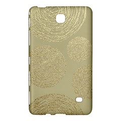 Modern, Gold,polka Dots, Metallic,elegant,chic,hand Painted, Beautiful,contemporary,deocrative,decor Samsung Galaxy Tab 4 (8 ) Hardshell Case