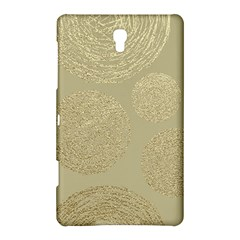 Modern, Gold,polka Dots, Metallic,elegant,chic,hand Painted, Beautiful,contemporary,deocrative,decor Samsung Galaxy Tab S (8 4 ) Hardshell Case