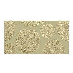Modern, Gold,polka Dots, Metallic,elegant,chic,hand Painted, Beautiful,contemporary,deocrative,decor Satin Wrap