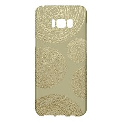 Modern, Gold,polka Dots, Metallic,elegant,chic,hand Painted, Beautiful,contemporary,deocrative,decor Samsung Galaxy S8 Plus Hardshell Case