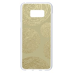 Modern, Gold,polka Dots, Metallic,elegant,chic,hand Painted, Beautiful,contemporary,deocrative,decor Samsung Galaxy S8 Plus White Seamless Case