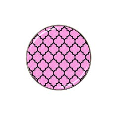 Tile1 Black Marble & Pink Colored Pencil Hat Clip Ball Marker by trendistuff