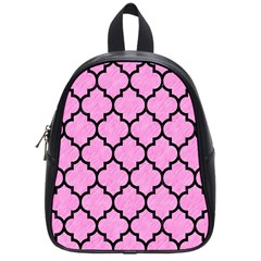 Tile1 Black Marble & Pink Colored Pencil School Bag (small) by trendistuff