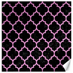 Tile1 Black Marble & Pink Colored Pencil (r) Canvas 16  X 16   by trendistuff