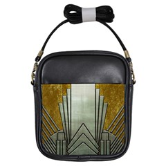 Art Nouveau Gold Silver Girls Sling Bags by 8fugoso
