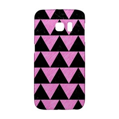 Triangle2 Black Marble & Pink Colored Pencil Galaxy S6 Edge by trendistuff