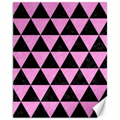 Triangle3 Black Marble & Pink Colored Pencil Canvas 11  X 14   by trendistuff
