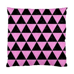 Triangle3 Black Marble & Pink Colored Pencil Standard Cushion Case (one Side) by trendistuff