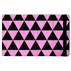 Triangle3 Black Marble & Pink Colored Pencil Apple Ipad 2 Flip Case by trendistuff