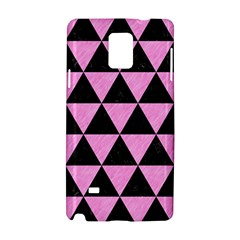 Triangle3 Black Marble & Pink Colored Pencil Samsung Galaxy Note 4 Hardshell Case by trendistuff