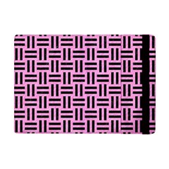 Woven1 Black Marble & Pink Colored Pencil Apple Ipad Mini Flip Case by trendistuff