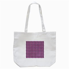 Woven1 Black Marble & Pink Colored Pencil Tote Bag (white) by trendistuff