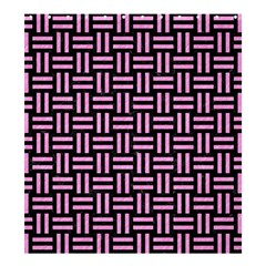 Woven1 Black Marble & Pink Colored Pencil (r) Shower Curtain 66  X 72  (large)  by trendistuff