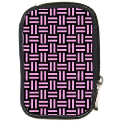 Woven1 Black Marble & Pink Colored Pencil (r) Compact Camera Cases by trendistuff