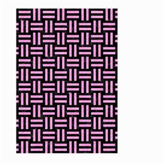 Woven1 Black Marble & Pink Colored Pencil (r) Large Garden Flag (two Sides)