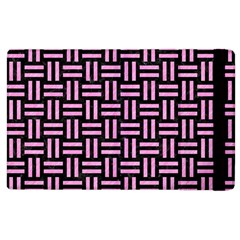 Woven1 Black Marble & Pink Colored Pencil (r) Apple Ipad 2 Flip Case by trendistuff