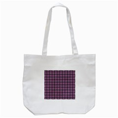 Woven1 Black Marble & Pink Colored Pencil (r) Tote Bag (white)