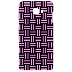 Woven1 Black Marble & Pink Colored Pencil (r) Samsung C9 Pro Hardshell Case
