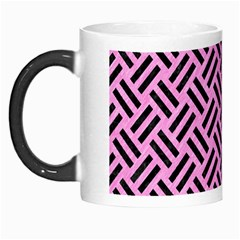 Woven2 Black Marble & Pink Colored Pencil Morph Mugs by trendistuff