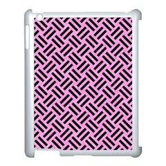 Woven2 Black Marble & Pink Colored Pencil Apple Ipad 3/4 Case (white) by trendistuff