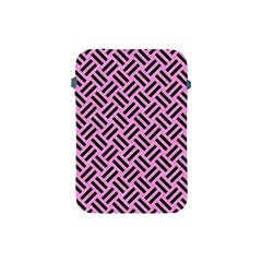 Woven2 Black Marble & Pink Colored Pencil Apple Ipad Mini Protective Soft Cases by trendistuff