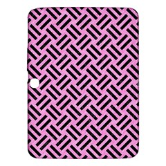 Woven2 Black Marble & Pink Colored Pencil Samsung Galaxy Tab 3 (10 1 ) P5200 Hardshell Case  by trendistuff