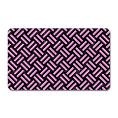 Woven2 Black Marble & Pink Colored Pencil (r) Magnet (rectangular) by trendistuff