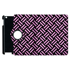 Woven2 Black Marble & Pink Colored Pencil (r) Apple Ipad 2 Flip 360 Case by trendistuff