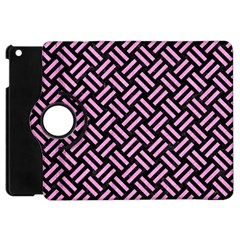 Woven2 Black Marble & Pink Colored Pencil (r) Apple Ipad Mini Flip 360 Case by trendistuff