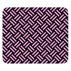 Woven2 Black Marble & Pink Colored Pencil (r) Double Sided Flano Blanket (small)  by trendistuff