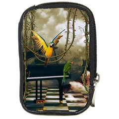 Funny Parrots In A Fantasy World Compact Camera Cases by FantasyWorld7