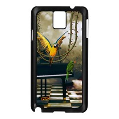 Funny Parrots In A Fantasy World Samsung Galaxy Note 3 N9005 Case (black) by FantasyWorld7