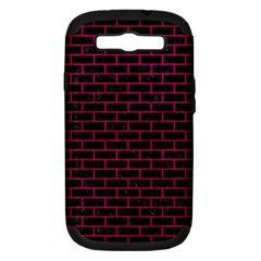 Brick1 Black Marble & Pink Leather (r) Samsung Galaxy S Iii Hardshell Case (pc+silicone) by trendistuff