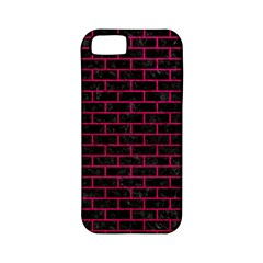 Brick1 Black Marble & Pink Leather (r) Apple Iphone 5 Classic Hardshell Case (pc+silicone) by trendistuff