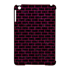 Brick1 Black Marble & Pink Leather (r) Apple Ipad Mini Hardshell Case (compatible With Smart Cover) by trendistuff