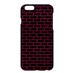 Brick1 Black Marble & Pink Leather (r) Apple Iphone 6 Plus/6s Plus Hardshell Case by trendistuff