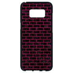 Brick1 Black Marble & Pink Leather (r) Samsung Galaxy S8 Black Seamless Case by trendistuff