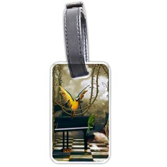 Funny Parrots In A Fantasy World Luggage Tags (one Side)  by FantasyWorld7