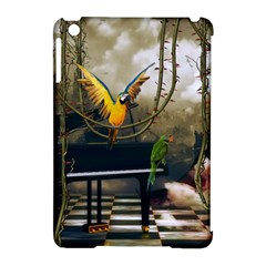 Funny Parrots In A Fantasy World Apple Ipad Mini Hardshell Case (compatible With Smart Cover) by FantasyWorld7