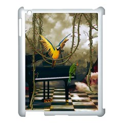 Funny Parrots In A Fantasy World Apple Ipad 3/4 Case (white) by FantasyWorld7