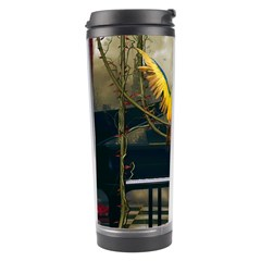 Funny Parrots In A Fantasy World Travel Tumbler by FantasyWorld7