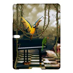 Funny Parrots In A Fantasy World Samsung Galaxy Tab S (10 5 ) Hardshell Case  by FantasyWorld7