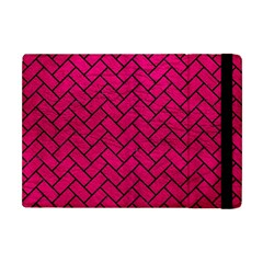 Brick2 Black Marble & Pink Leather Apple Ipad Mini Flip Case by trendistuff
