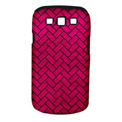 Brick2 Black Marble & Pink Leather Samsung Galaxy S Iii Classic Hardshell Case (pc+silicone) by trendistuff