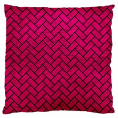 Brick2 Black Marble & Pink Leather Standard Flano Cushion Case (two Sides) by trendistuff