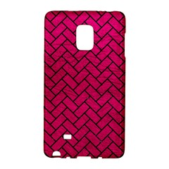 Brick2 Black Marble & Pink Leather Galaxy Note Edge by trendistuff